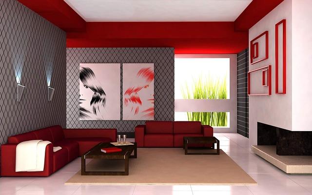 černočervený obývák